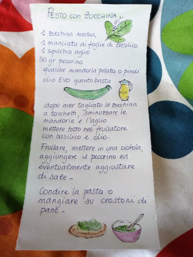Pesto con zucchina